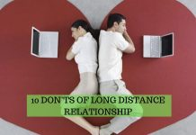 10 DON'TS OF LONG DISTANCE RELATIONSHIP