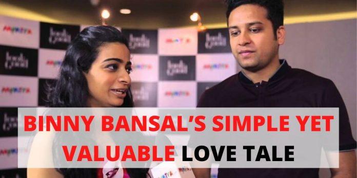 BINNY BANSAL'S SIMPLE YET VALUABLE LOVE TALE