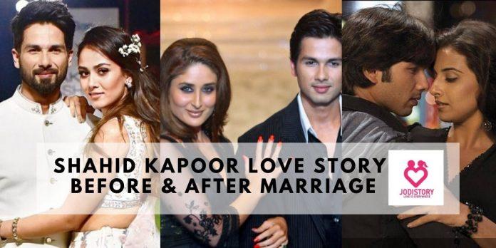 shahid kapoor love story
