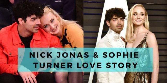 nick jonas & sophie trner love story