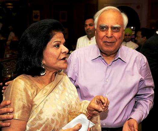 Kapil Sibal is with second wife Promila Sibal
