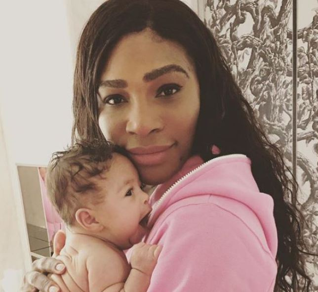 Serena Williams with daughter