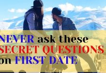 (Secret Question) not ask on First Date to a girl