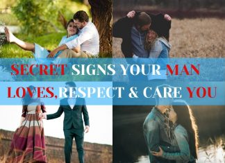 Signs man respects & care you