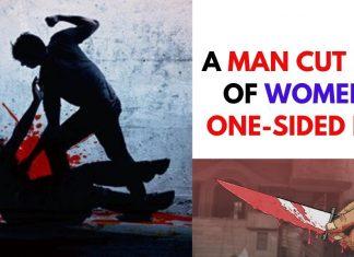 A MAN CUT THROAT OF WOMEN IN ONE-SIDED LOVE