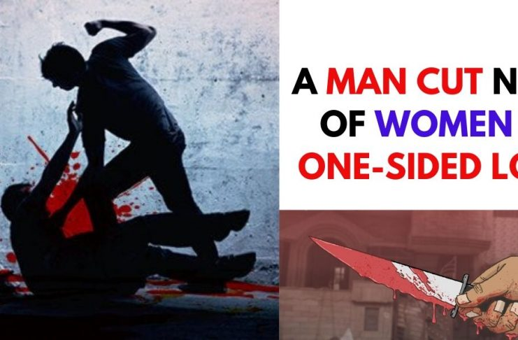 A MAN CUT THROAT OF WOMEN IN ONE-SIDED LOVE