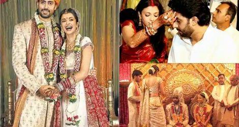 Abhishek and Aishwarya's marriage
