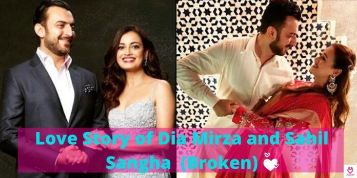 Love Story of Dia Mirza and Sahil Sangha