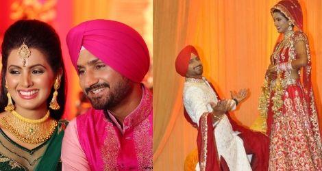 Harbhajan and Geeta's marriage