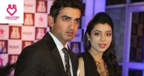 Gautam Gambhir and Natasha Jain Colorful love story