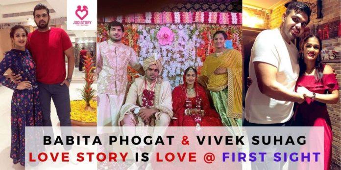 babita phogat & vivek suhag love story