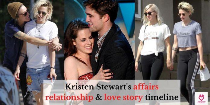 Kristen Stewart's affairs relationship & love story timeline